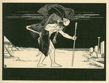 Esther lillien dybbuq Libro di GIOBBE tedesco occultismo MORTE SCHELETRO 6x5 pollici stampa
