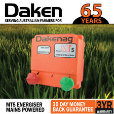 5km Mains Powered Electric Fence Energiser Energizer Daken 3 Year Farm