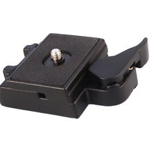 "Slr Dslr Camera Lens Tripod Quick Release Clamp Plate 3/8"" to 1/4"" Mount Adapter"