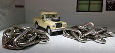 MTC1827 Land Rover Serie 2a 3 Trasera Puerta Cadena Apoyo Acero Inoxidable x2