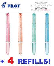 1x HI TEC C SWEET MODE Coleto Pens + 4 Refills EDITION PILOT Gift Japan RARE New