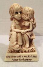 Vintage R & W Berries figurine Happy Anniversary And They Said It Wouldn't Last