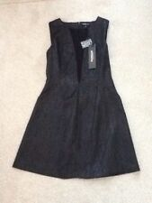 Morgan Plunging Fit and Flare Dress. Plunging Neck. Size 10 Black. New with Tag.