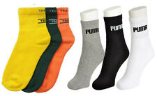 Men Multi Color Branded Cotton Sports Socks - Pack Of 6 Pairs
