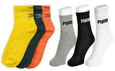 Men Multi Color Cotton Sports Socks - Pack Of 6 Pairs (3 PU. + 3 JK. Color)