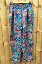 H&M TREND WIDE LEG FLORAL TROPICAL PASSION PALM TREE PATTERN CULOTTES TROUSER 10