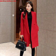 Fashion autumn winter women long woolen trench coat long sleeve jacket outfit