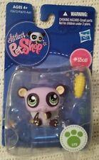 NIP Littlest Pet Shop #1305 Purple Panda Bear, Green Eyes!  HASBRO LPS
