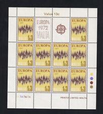 Malta Europa 1972 Communication 1.3¢ MNH pane of 10, sc#450  [149]