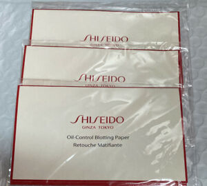 Lot 3 Shiseido Pureness Oil Control Blotting Paper Travel Pack, 10 Sheets Each