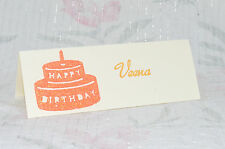 20x PERSONALISED TABLE NAME PLACE CARDS SEATING SETTING PLANS BIRTHDAY WEDDING