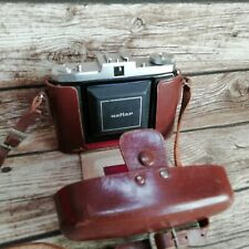 Vintage Zeiss Ikon Nettar Folding Camera & Case - Novar 75mm Lens 518/16