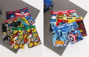 6 Pack Marvels Super Hero Boy Cotton trunks Underwear size 4-12