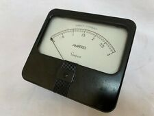 Simpson 0 To 3 Amps Panel Meter 40s 50s Vtg Art Deco Analog Readout Part Amperes