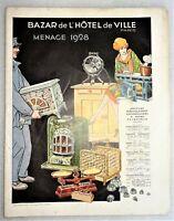 Catalogue 1928 BAZAR DE L'HOTEL DE VILLE - ménage maison outils