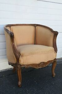 French Early 1900s Hand Carved Living Bed Room Chair 2005
