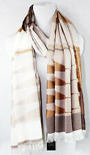 VINCE CAMUTO Scarf Wrap Multi Shape Woven  Cocoa  NWT $48