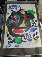 Sculptures Original Lithograph Poster by Joan MIRO Nicely Framed