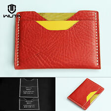 WUTA  Simple Card Case Template Horizontal Wallet Acrylic Leather Pattern W914