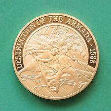 1988 Chapado en Oro Medallón 400th aniversario 1588 SNo45254 armada española