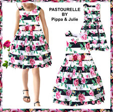 2c28d7ad5b8a PASTOURELLE Pippa & Julie NEW Floral Stripe Dress wFloral Rose Details Size  6