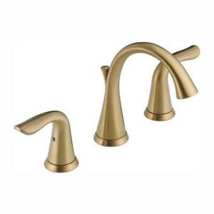 Delta 3538-CZMPU-DST Lahara 2-Hdl Widespread Bathroom Faucet Champagne Bronze BW