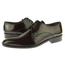 """Alex D """"Phoenix"""" Plain Toe Derby, Men's Dress Leather Oxford Shoes, Brown"""