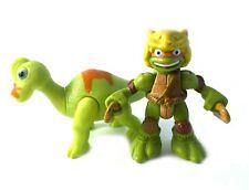 Mikey & Brachiosaurus Tmnt Ninja Turtles Half Shell Heroes Figures Lot Dino #2