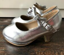 LINK Silver Pumps For Toddler Girl Size 9