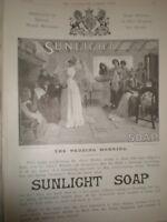 Sunlight Soap The Wedding Morning from John Bacon art advert 1893 ref AT