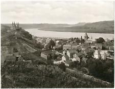 Allemagne, Remagen, vue sur le château et le Rhin  Vintage albumen print Tir