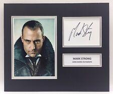 RARE Mark Strong Sherlock Holmes Signed Photo Display + COA AUTOGRAPH BLACKWOOD