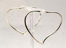 Elsa Peretti Tiffany & Co 925 Sterling Silver Medium Heart Hoop Earrings (T41)