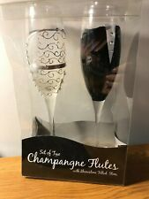 Set Of 2 Wedding Champagne Flutes – Novelty