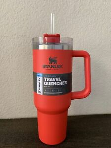 NEW Stanley Adventure Quencher Travel Tumbler Straw Cup 40 oz Red Flame