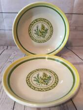 "TRE CI 2 PASTA BOWLS 9 1/2"" Made In Italy Earthenware Serving Bowl Spaghetti"