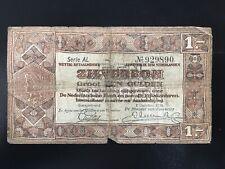 1 Gulden Zilverbon Netherlands Banknote (1938) Lot 223