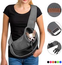 New listing Yudodopet Sling Carrier Breathable Mesh Travel Safe Bag Pink Dog Cat S.M 5/10Lb