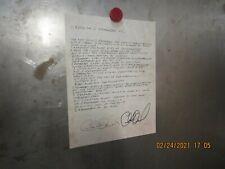 "Charlie Daniels ""Carolina (I Remember You)"" Lyrics Promo Flat Signed By Charlie"