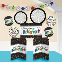OFFICIALLY RETIRED ROOM DECORATIONS Happy Retirement Table Wall Banner Off Clock