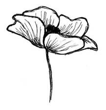 Emily's Poppy Unmounted Rubber Stamp