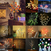 LED Leaves Lights Tree Twig Light Lamp Landscape Party Wedding Festival Decor