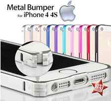 CUSTODIA COVER METAL BUMPER SLIM IN ALLUMINIO per APPLE IPHONE 4 4S + PELLICOLA