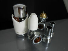 15MM THERMOSTATIC ANGLED RADIATOR VALVE TRV& LOCKSHIELD VALVES