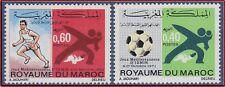 1971 MAROC N°625/626** Jeux sportifs méditerranéens d'Izmir, 1971 MOROCCO MNH