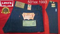 NEW VINTAGE 1993 ORIGINAL LEVI'S 501XX RED TAB DENIM JEANS INDIGO RARE 48x32