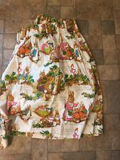 "Vtg PETER RABBIT Heavy Cotton Fabric Curtains  78"" Wide"
