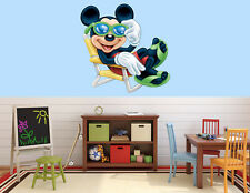 Disney Mickey Mouse Sunglasses LARGE VINYL WALL STICKER DECALS CHILDREN Room 64