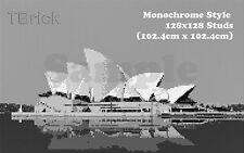 TOYBRICK - Build Your Own Custom Mosaic Art 128x128 STUDS - Monochrome Style