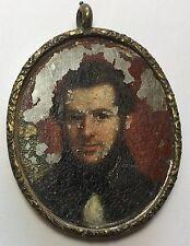 18th/19th Century Antique Oil PAINTING Portrait Mourning Postmortem MINIATURE